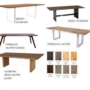 Nouvion Tafelprogramma Dalton. Unieke tafels - Bezoek de webshop!